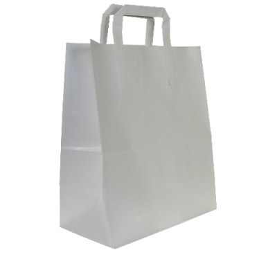 SMALL WHITE PAPER CARRIER BAGS