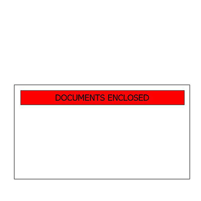 "A6 Printed ""Docs Enclosed"" Wallets"
