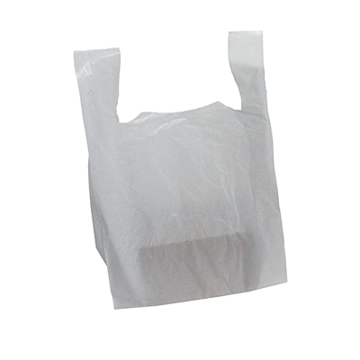 White Plastic Carrier Bags - 18 Micron