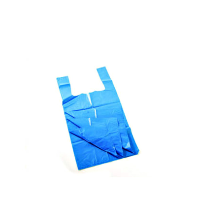 Blue Plastic Carrier Bags  - 25 Micron