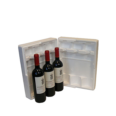 Three Bottle Polystyrene Pack