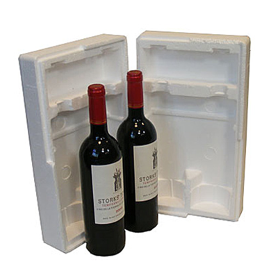TWO BOTTLE POLYSTYRENE PACK